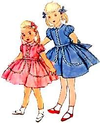 Grandma made me little dresses like this all the time!  Looks like the front of one of her pattern sleeves =)