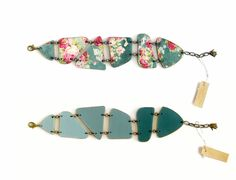 Panel Link Bracelet Boho Cuff Geometric Wood Bracelet by LENNYshop