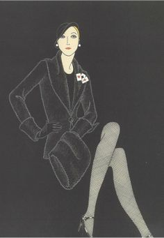 Illustration by Walter Albini,  Misterfox, Vogue Italia.