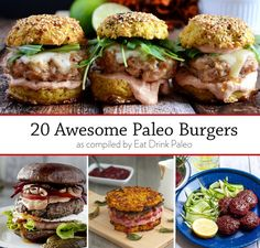 20 Awesome Paleo Burger Recipes - our tasty compilation of hamburger and burger recipes on Eat Drink Paleo. From beef and chicken burgers to more exotic salmon and bison patties with no bread in sight. | Eat Drink Paleo