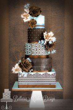 Descubre las tartas de boda llenas de colores muy vibrantes para un postre de lo más original. ¡Dale vida a tus dulces con estas ideas tan especiales!