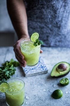 Avocado And Lime Margarita {wineglasswriter.com/}