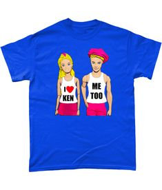 Funny, Gay, T-Shirt. I Love Ken! Me Too! Gay, Pride, TShirt! LGBT/Gay T! S, Blue #Gildan Mardi Gras, Lgbt, Pride, My Love, Funny, Mens Tops, T Shirt, Carnival, Supreme T Shirt