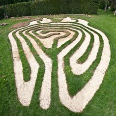 Interesting shape for a labyrinth.