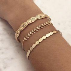 Layered Bracelets by Kurafuchi Jewelry