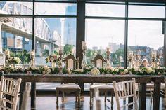 We're swooning over the elegant details at Erin + Seth's Nashville wedding at The Bridge Building! Wedding Reception Design, Head Table Wedding, Spring Wedding Inspiration, Nashville Wedding, Getting Married, Wedding Styles, Bridge, Table Decorations, Receptions