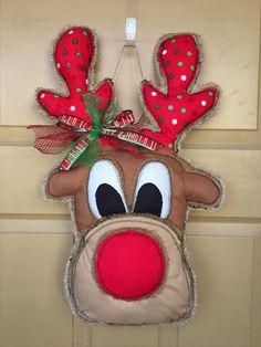 A personal favorite from my Etsy shop https://www.etsy.com/listing/569347465/burlap-door-hanger-reindeer