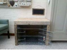 Dog bench.
