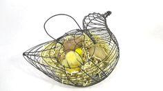 Vintage Wire Chicken Egg Gathering Basket by UrbanRenewalDesigns