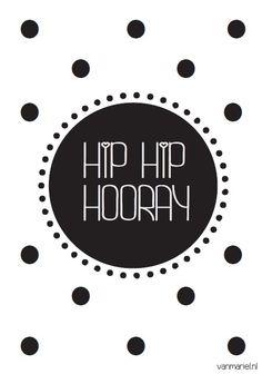 Hip hip hooray! | Kaarten A6 | vanmariel❥