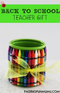 Back To School Teacher Gift! Inexpensive, easy & quick to make & best of all FUN!