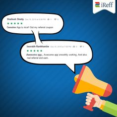 Don't take our word! Hear it from the happy customers. Genuine reviews from our Share & Win #campaign #participants. Find the best recharge plans and save time & money with iReff.  ‪#‎UserVoice‬ ‪#‎Campaign‬ ‪#‎iReff‬