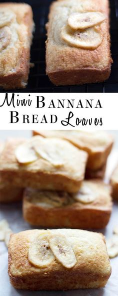 Mini Banana Bread Loaves: These delicious Mini Banana Bread Loaves are a great way to use up over ripe bananas.  Once you've tried this recipe, these little beauties will become a household favorite!