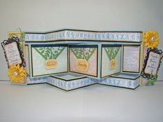 8/24/2012; Angela Barkhouse at 'Snippets of Paper' blog using JRS + other products for this tri-shutter card; boy, it has been years since I have tackled a card like this!