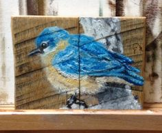 Recycled Shipping Pallet Miniature Art Canvases
