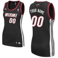 ea1a0d7ce46 Customized Black Adidas Quality Fabrics Swingman Miami Heat Women Road NBA  Jerseys Discount Jordans, Discount