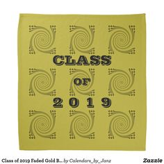 Class of 2019 Faded Gold Bandana by Janz - college graduation gift idea cyo custom customize personalize special Create Your Own, Create Yourself, Class Of 2018, College Graduation Gifts, Dog Bowtie, School Spirit, Bandana, Print Design, First Love