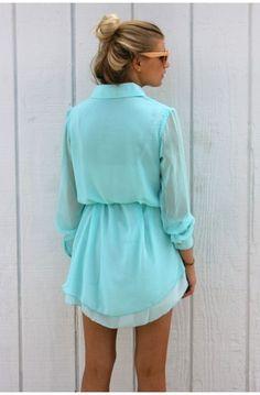 Chiffon Shirt Dress. Love.