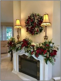Christmas Wreath and Garland.Most Luxurious Holiday Decor Set with 96 cordless light each with timer Couronne de Noel et Garland.Most Luxurious Holiday Decor Set image 4 Christmas Staircase, Christmas Swags, Christmas Mantels, Christmas Home, Christmas Holidays, Cheap Christmas, Christmas Ideas, Christmas Christmas, Apartment Christmas