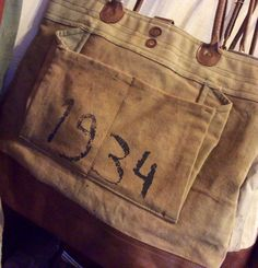 1934 Canvas and Leather Bag