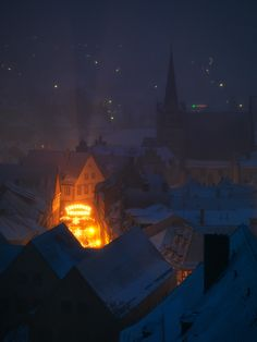 My hometown, christmas, Kronach, Bavaria, Germany.......Beautiful hometown that you have....