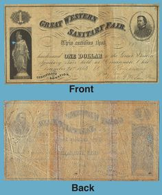 Civil War 1861 1865 U s Sanitary Commission Fair Christian Tract Society | eBay Certification of Donation:  Great Western Sanitary Fair (Donation for $1.00) signed by Major General W.S. Rosencrans, President of the Western Sanitary Commission