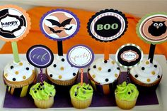 Super cute Halloween printable party set by @lovethedaydsign