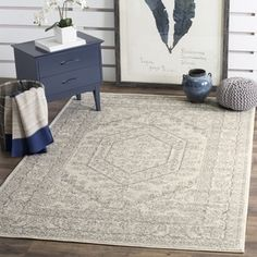Safavieh Adirondack Vintage Ivory/ Silver Rug (8' x 10') | Overstock.com Shopping - The Best Deals on 7x9 - 10x14 Rugs