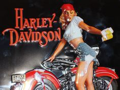 Davidson Harley Zombie Pin Up Girl   ... know what Harley looks like ...so we showed Close Up of PIN UP GIRL