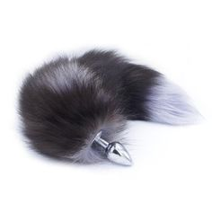 dd5b4abc0 Luxurious multi color fox tail metal butt plug