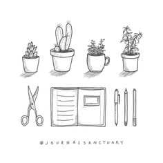 I drew these little doodles for my sidebar and I thought I'd share them with you :). Feel free to use them as an inspiration ❤️