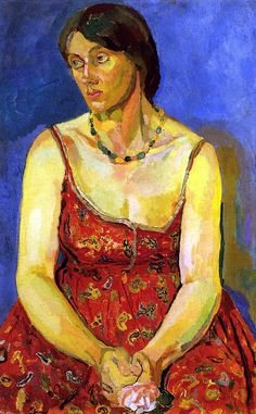 Vanessa Bell, 1916-1917 by Duncan Grant (British, 1885-1978) Bloomsbury Group