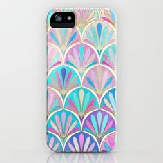 Glamorous Twenties Art Deco Pastel Pattern iPhone 6s Case ($35) ❤ liked on Polyvore featuring accessories and tech accessories