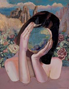 she held the world in her eyes! no need for travel!