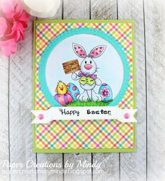 Back again with another Guest Design Team card from Paper Nest Dolls! This image is just the sweetest! I love this bunny! I dug out my Spri...