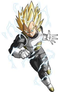 SSJ2 Vegeta (Dragonball Super) (Lightning) by RayzorBlade189 on DeviantArt