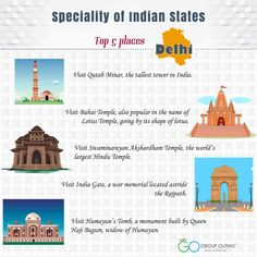 Top 5 #destinations you must visit while in #Delhi #GroupOuting #GoGroupOuting
