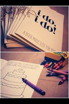 A MUST for me! Children's activities for the youngins at our wedding!