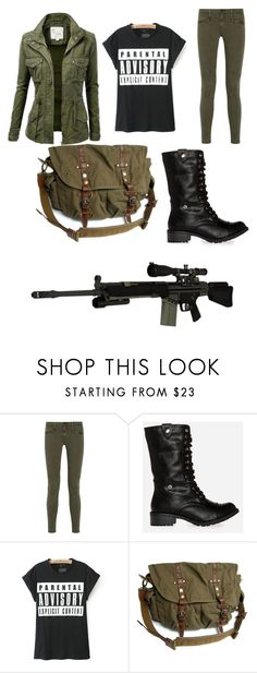 """Another version of 10k from Z Nation"" by wallslilly ❤ liked on Polyvore featuring AG Adriano Goldschmied, DailyLook and RIFLE"