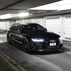 """""""All black Audi RS6 • Follow our partners @a1exoticsmag • • Use code """"CarLifestyle"""" to take 10% off your total order • • Premier Exotic Car / Lifestyle…"""""""