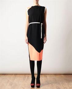 ROKSANDA ILINCIC Crepe Wool Dress with Belt