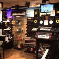 All this amazing home studio kit in Musicroom Nottingham - it's fantastic! A massive thank you to our friends at @WeAreFocusrite & @WeAreNovation, both displays look and work brilliantly within the store | #musicroom#focusrite#novation#homestudio#recording#music#musicians#excited#Monday#happy#electronic#dance#goodmusic#allday#practice#joy#love