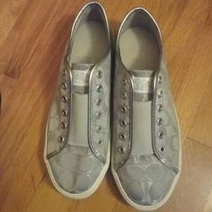 Heather's Closet (@karnivool33) | Poshmark Silver Shoes, Gray Shoes, Sell Items, Cole Haan, Louis Vuitton, Sneakers, Closet, Tennis, Slippers