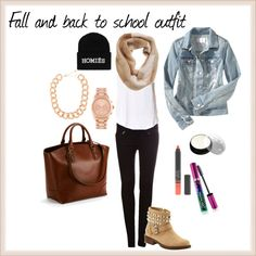 """""""Fall and back to school outfit"""" by laery on Polyvore"""
