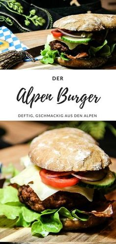 Terrific Absolutely Free Alpen Burger - the Bavarian Burger Joyful food Strategies Nowadays I'm going to exhibit you making the common membership sandwich. This double decker meal Bento Recipes, Vegetarian Recipes, Burger Co, Burger Places, Hot Dog Recipes, Hamburger Meat Recipes, World Recipes, Food Inspiration, Good Food