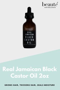 100% REAL JAMAICAN BLACK CASTOR OIL produced in JAMAICA without fillers or filters. Grows Hair, Thickens Hair, Seals Moisture! #haircare #hairgrowthoil #castoroil #haircareproducts Jamaican Black Castor Oil, Hair Thickening, Hair Growth Oil, Hair Oil, Grow Hair, Seals, Filters, Hair Care, Moisturizer
