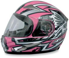 AFX FX-90 Passion Full Face Motorcycle Helmet Small Silver/Pink PU0101-5843 #AFX