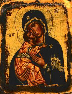 Byzantine Icons-Theotokos-Mother of God http://www.pinterest.com/lunia57/icons-ikony/…