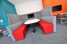 Orangebox - Away From the Desk BOF installation at University of Southampton, Mayflower Learning Centre University Of Southampton, Learning Centers, Cosy, Corner Desk, Centre, Lounge, Contemporary, Definitions, Projects