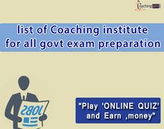 Coaching classes are the need of today's generation as competition is going higher in the government exams. by joining a coaching, you can save your time and get success in the govt exams.